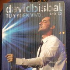 Vídeos y DVD Musicales: DAVID BISBAL - TU Y YO EN VIVO. Lote 95195467