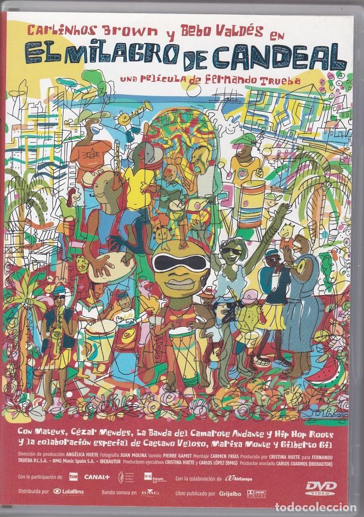 DVD 2 DISCOS. EL MILAGRO DE CANDEAL. CARLINHOS BROWN. 126 Y 50 MINUTOS (SEMINUEVOS) (Música - Videos y DVD Musicales)