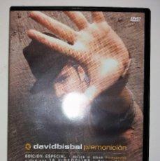 Vídeos y DVD Musicales: DAVID BISBAL - PREMONICIÓN - DVD. Lote 95752195