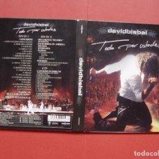Vídeos y DVD Musicales: DIGIPACK 2 DVD'S Y CD : DAVID BISBAL (TODO POR USTEDES) (VALE MUSIC, 2005) CON FOLLETO ¡ORIGINAL!. Lote 96596179