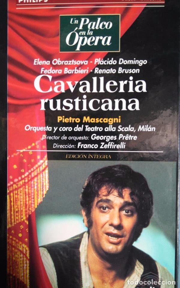 MASCAGNI. CAVALLERIA RUSTICANA. OBRAZTSOVA. DOMINGO, BARBIERI, BRUSON. ZEFFIRELLI. VHS (Música - Videos y DVD Musicales)