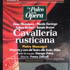 Vídeos y DVD Musicales: MASCAGNI. CAVALLERIA RUSTICANA. OBRAZTSOVA. DOMINGO, BARBIERI, BRUSON. ZEFFIRELLI. VHS. Lote 97855599