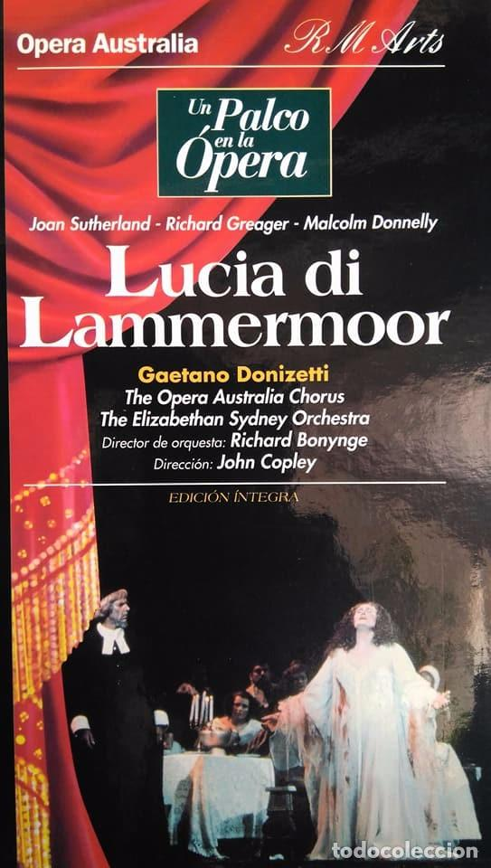DONIZETTI. LUCIA DI LAMMERMOOR. SUTHERLAND, GREAGER, DONNELLY, COPLEY. VHS (Música - Videos y DVD Musicales)