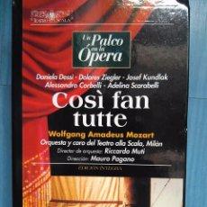 Vídeos y DVD Musicales: MOZART. COSÌ FAN TUTTE. DESSÌ. ZIEGLER. KUNDLAK. CORBELLI. SCARABELLI. MUTI. PAGANO. VHS. Lote 97858011