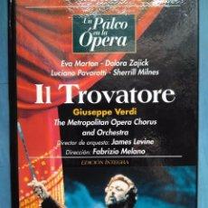 Vídeos y DVD Musicales: VERDI. IL TROVATORE. EVA MARTON. ZAJICK. PAVAROTTI. MILNES. LEVINE. MELANO. VHS. Lote 97860003