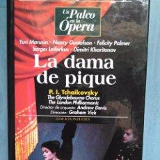 Vídeos y DVD Musicales: TCHAIKOVSKY. LA DAMA DE PIQUE. MARUSIN. GUSTAFSON. PALMER. LEIFERKUS. KHARITONOV. DAVIS. VICK. VHS. Lote 97860303