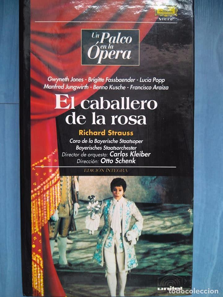 STRAUSS. EL CABALLERO DE LA ROSA. JONES. FASSBAENDER. POPP. JUNGWIRTH. KUSCHE. KLEIBER. SCHENK. VHS (Música - Videos y DVD Musicales)