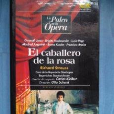 Vídeos y DVD Musicales: STRAUSS. EL CABALLERO DE LA ROSA. JONES. FASSBAENDER. POPP. JUNGWIRTH. KUSCHE. KLEIBER. SCHENK. VHS. Lote 97860591