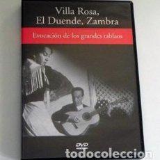 Vídeos y DVD Musicales: VILLA ROSA EL DUENDE LA ZAMBRA EVOCACIÓN DE LOS GRANDES TABLAOS - DVD FLAMENCO MERCÉ SANLÚCAR RBA. Lote 99122535