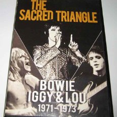 Vidéos y DVD Musicaux: THE SACRED TRIANGLE: BOWIE, IGGY & LOU 1971 - 1973 - (DAVID BOWIE, IGGY POP Y LOU REED) - DVD. Lote 99458323
