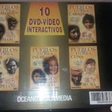 Vídeos y DVD Musicales: COLECCIÓN DE 10 DVD-VIDEO INTERACTIVOS PUEBLOS DE LA TIERRA. Lote 99784654