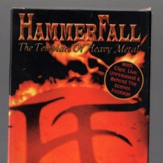 Vídeos y DVD Musicales: HAMMERFALL ''THE FIRST CRUSADE'' VHS 1999 GLORY TO THE BRAVE 81 MIN. Lote 100359083