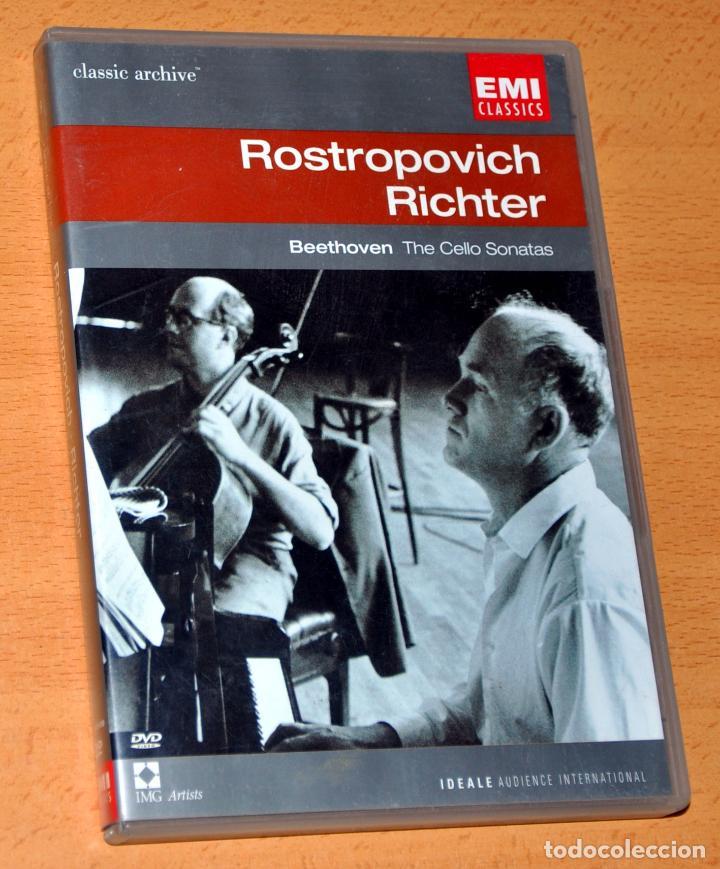 DVD INGLÉS + LIBRETO: BEETHOVEN - THE CELO SONATAS - ROSTROPOVICH / RICHTER - EMI CLASSICS 2002 (Música - Videos y DVD Musicales)