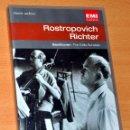 Vídeos y DVD Musicales: DVD INGLÉS + LIBRETO: BEETHOVEN - THE CELO SONATAS - ROSTROPOVICH / RICHTER - EMI CLASSICS 2002. Lote 101137507