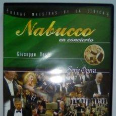 Vídeos y DVD Musicales: DVD NABUCCO EN CONCIERTO GIUSEPPE VERDI- DVD.-. Lote 102069527