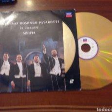 Vídeos y DVD Musicales: CARRERAS DOMINGO PAVAROTI IN CONCERT MEHTA LASER DISC. Lote 102627062