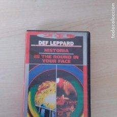 Vídeos y DVD Musicales: VHS DEF LEPPARD ( HISTORIA + IN THE ROUND , 2 EN 1 ). Lote 103367875