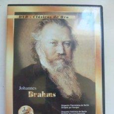 Vidéos y DVD Musicaux: DVD CLÁSICOS DE ORO. JJOHANNES BRAHMS. Lote 103583375
