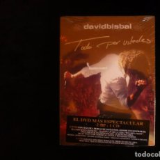Vídeos y DVD Musicales: DAVID BISBAL TODO POR USTEDES CONTIENE 2DVD + UN CD NUEVO PRECINTADO. Lote 104175455