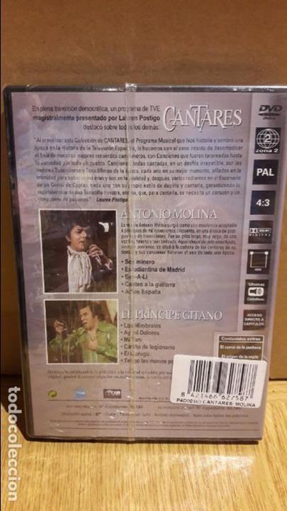 Vídeos y DVD Musicales: CANTARES / LAUREN POSTIGO / ANTONIO MOLINA + EL PRÍNCIPE GITANO / DVD - PRECINTADO. - Foto 2 - 171828328