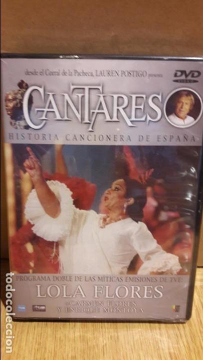 CANTARES / LAUREN POSTIGO / LOLA FLORES + CARMEN FLORES Y ENRIQUE MONTOYA / DVD - PRECINTADO. (Música - Videos y DVD Musicales)