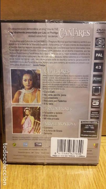 Vídeos y DVD Musicales: CANTARES / LAUREN POSTIGO / LOLA FLORES + CARMEN FLORES Y ENRIQUE MONTOYA / DVD - PRECINTADO. - Foto 2 - 118653475