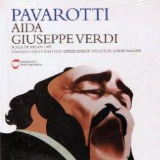 Vídeos y DVD Musicales: DVD PAVAROTTI AIDA GIUSEPPE VERDI (PRECINTADO). Lote 104891975