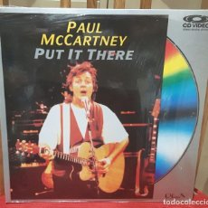 Vídeos y DVD Musicales: PAUL MCCARTNEY - BEATLES - PUT IT THERE- LASER DISC - USA - MUY RARO - 1989. Lote 105841887