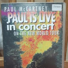 Vídeos y DVD Musicales: PAUL MCCARTNEY - BEATLES - PAUL IS LIVE IN CONCERT- PROMOCIONAL- VHS - ESPAÑA - 1994. Lote 105842327