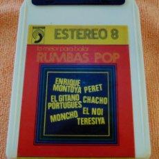 Vídeos y DVD Musicales: PERET / ENRIQUE MONTOYA / CHACHO... (RUMBAS POP) STEREO 8 PISTAS (DISCOPHON 1972). Lote 105908947