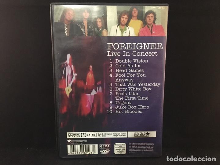 Vídeos y DVD Musicales: Foreigner - live in concert - dvd - Foto 2 - 106014746