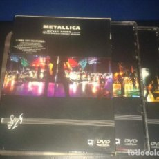 Vídeos y DVD Musicales: METALICA S & M 2 DISC SET FEATURES WARNER 2000 TOTAL 190 MINUTOS DE MUSICA. Lote 106896119