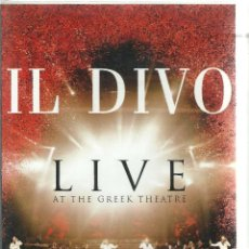 Vídeos y DVD Musicales: DVD - IL DIVO LIVE AT THE GREEK THEATRE - 2006. Lote 107961103