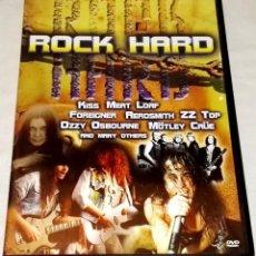 Vídeos y DVD Musicales: DVD - ROCK HARD - ZZ TOP, THE RAMONES, KISS, DEF LEPPARD, AEROSMITH, MÖTLEY CRÜE, SURVIVOR.... Lote 108794731