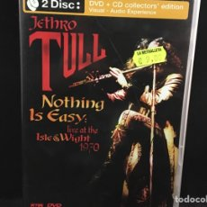 Vídeos y DVD Musicales: JETHRO TULL - LIVE ISLE WIGH 1970 / NOTHING IS EASY - CD + DVD. Lote 109376126