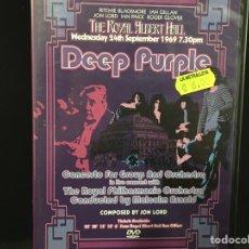 Vídeos y DVD Musicales: DEEP PURPLE - ROYAL ALBERT HALL 1969 - DVD. Lote 109376319