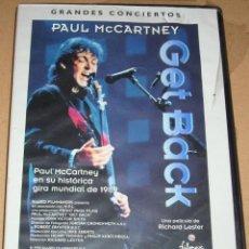 Vídeos y DVD Musicales: PAUL MCCARTNEY, EX BEATLES, GET BACK, GIRA MUNDIAL 1989 -DVD PRECINTADO DE ORIGEN IMPECABLE. Lote 109385635