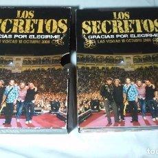 Vídeos y DVD Musicales: LOS SECRETOS - GRACIAS POR ELEGIRME-2 DVD+2 CD(MIGUEL RIOS-FITO CABRALES-MANOLO GARCÍA-SABINA-AMARAL. Lote 109404319