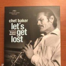 Vídeos y DVD Musicales: CHET BAKER LET´S GET LOST. UNA PELÍCULA DE BRUCE WEBER. INCLUYE LIBRO DE FOTOS Y 3 CD.. Lote 109494643