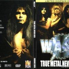Vídeos y DVD Musicales: W.A.S.P. – TRUE METAL NEVER DIES DVD DIGIPACK EDICIÓN LIMITADA. Lote 109509915