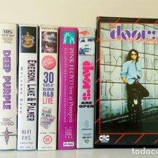Vídeos y DVD Musicales: LOTE 7 VÍDEOS VHS ROCK: THE DOORS, THE WHO, PINK FLOYD, DEEP PURPLE, EL&P, JIMI HENDRIX. Lote 109852527