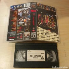 Vídeos y DVD Musicales: VHS ORIGINAL - KISS - VHS - UNPLUGGED - HEAVY METAL. Lote 140450898