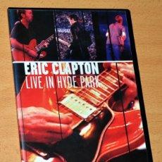 Vídeos y DVD Musicales: CONCIERTO ERIC CLAPTON - LIVE IN HYDE PARK - LONDRES 1996 - DVD - WARNER MUSIC 2001. Lote 112702255