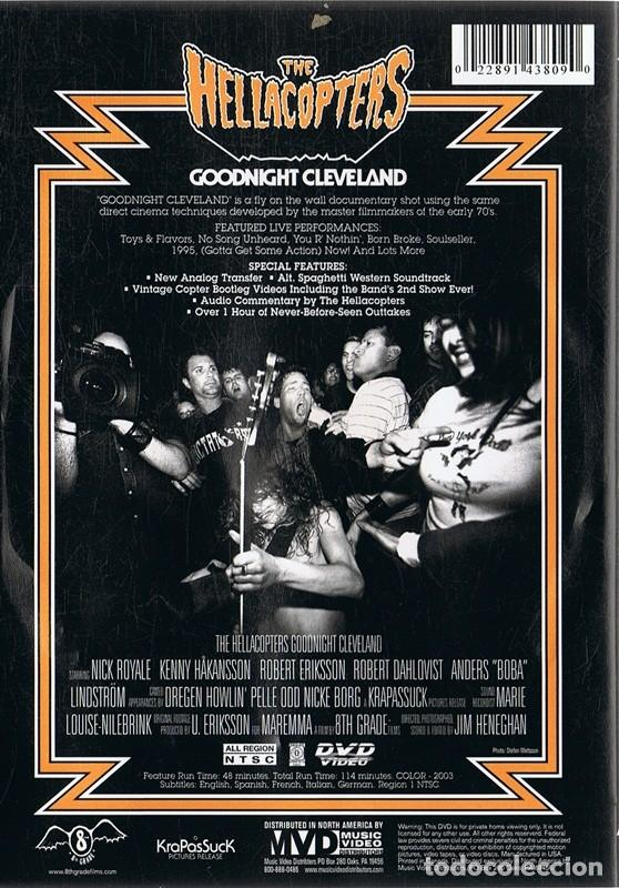 Vídeos y DVD Musicales: DVD THE HELLACOPTERS GOODNIGHT CLEVELAND - Foto 2 - 112868895