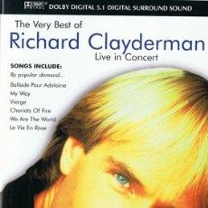 Vídeos y DVD Musicales: DVD RICHARD CLAYDERMAN LIVE IN CONCERT. Lote 114069811