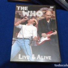 Vídeos y DVD Musicales: DVD THE WHO ( LIVE & ALIVE ) 2003 FALCON NUEVO. Lote 115315363
