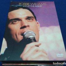 Vídeos y DVD Musicales: DVD ROBBIE WILLIAMS ( LIVE AT THE ALBERT ) 2001 EMI DIGIPACK LIBRETO NUEVO. Lote 115321091