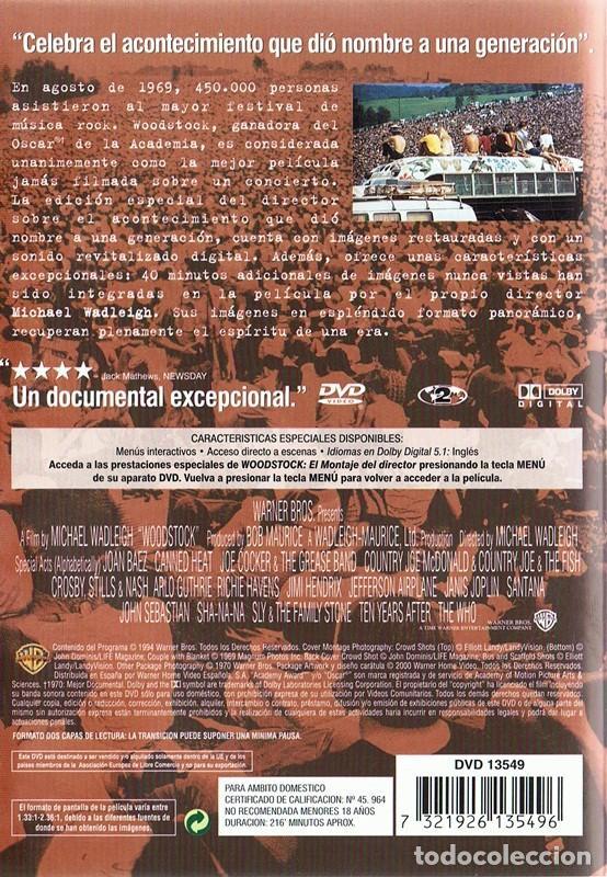 Vídeos y DVD Musicales: DVD WOODSTOCK 3 DÍAS DE PAZ Y MÚSICA - Foto 2 - 115488559