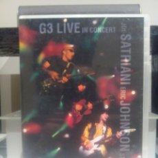 Vídeos y DVD Musicales: G3 LIVE IN CONCERT JOE SATRIANI, ERIC JOHNSON, STEVE VAI. Lote 116555235
