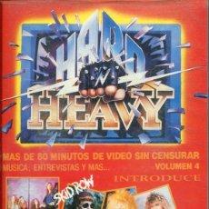 Vidéos y DVD Musicaux: HARD 'N' HEAVY VOLUMEN 4 (VIDEO VHS 80 MINUTOS). Lote 117350843